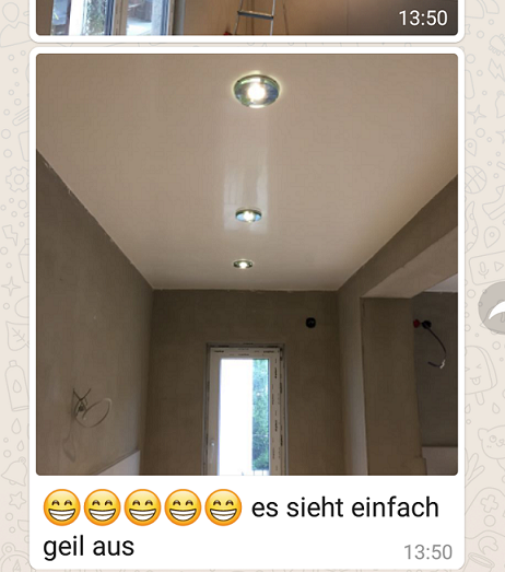 Kundenfeedback per WhatsApp Bad- & Wandveredelungen Tino Lehmann